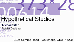 old business card design, circa 1999